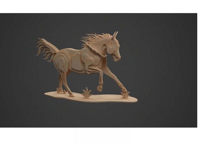Horse (1) Model 3D Puzzle/Model