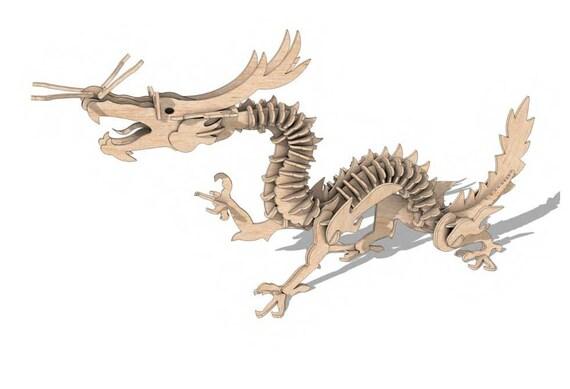 Holzbausatz Chinesischer Drache 3D Puzzle