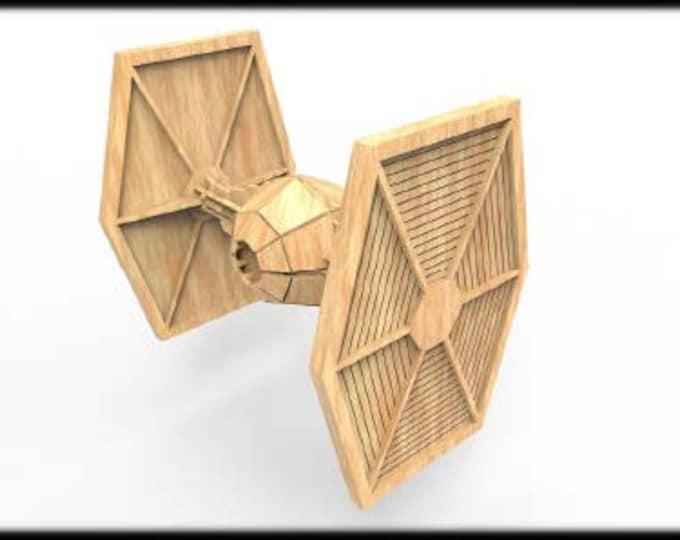 Tie Fighter (StarWars Inspired) 3D Puzzle/Model