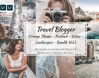 Travel Blogger Big Bundle, Adobe Lightroom Mobile & Desktop Presets, Consistent Instagram Feed, Blogger Presets Set for light Photos Editing