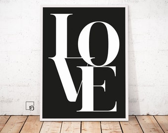 Love Poster, Love Wall Art, Love Print Printable Art Printable Download Home Decor, Love Wall Art, Wedding Decor, Valentines Day, Engagement