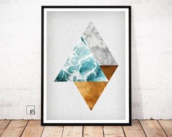 Copper Poster, Copper Print, Copper Art, Geometrical Print, Copper Wall Art, Geometrical Art, abstract wall art, abstract print, printables