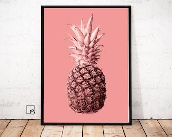 Pineapple Print, Pineapple Wall Art, Pineapple Poster, Pineapple Printable, Abstract Wall Print, Pineapple Download, Pineapple Decoration