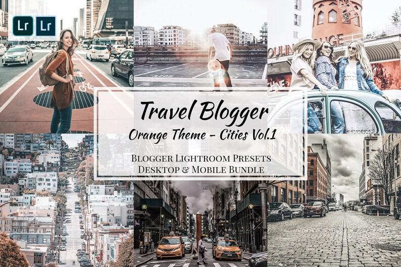 Travel Blogger Bundle, Adobe Lightroom Mobile & Desktop Preset, Consistent  Instagram Feed, Blogger Preset light Photos Editing, Orange Theme