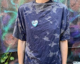 Beat it Bleach Splattered T Shirt Size M