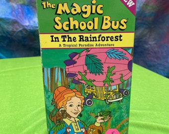 Magic School Bus In the Rainforest a Tropical Paradise Adventure Collectible VHS Tape Vintage