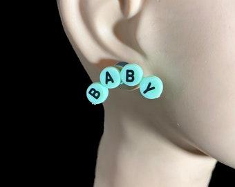 Baby Stud Earrings / Stud Earrings / Novelty Earrings / Baby Earrings / Cute Earrings / Novelty Earrings / Fun Earrings / Fun Jewelry