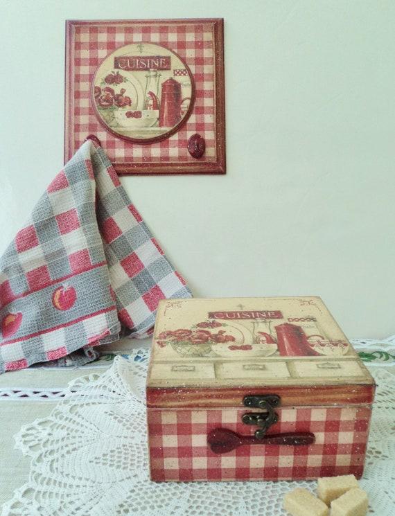 Porte-torchons, porte-maniques, porte-gants de cuisine, panneau cuisine, décoration cuisine, Cuisine country,