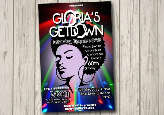 70s soul train disco dance party invitation 60 s 70 s etsy