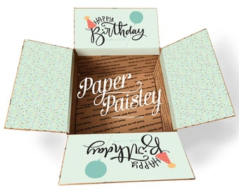 Care Package Sticker Kit - Happy Birthday Sprinkles/birthday care package/gift/military/deployment/ldr/missionary/decorated box flaps/label