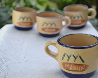 Tea coffee Cups Set of 4, Ceramic Espresso Cup Set, Porcelain Coffee Mug,