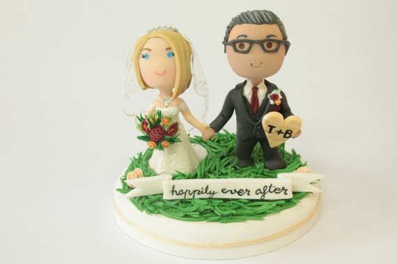 Asia Sell Wedding Cake Topper Decoration Black LOVE Bride Groom Married AU