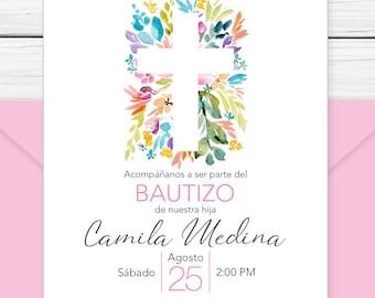 Baptism Invitation In Spanish Printable Girls And Boys Etsy