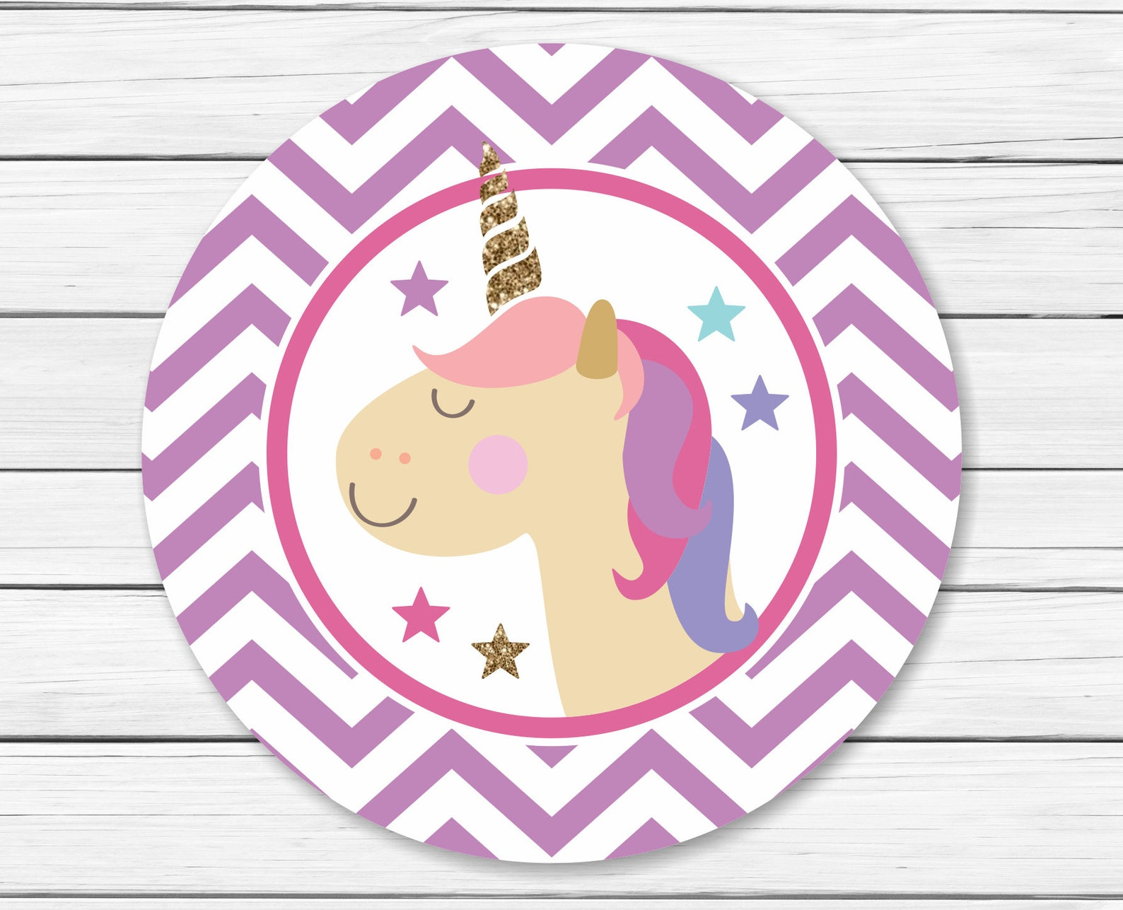 Printable Unicorn Cupcake Toppers Page Four