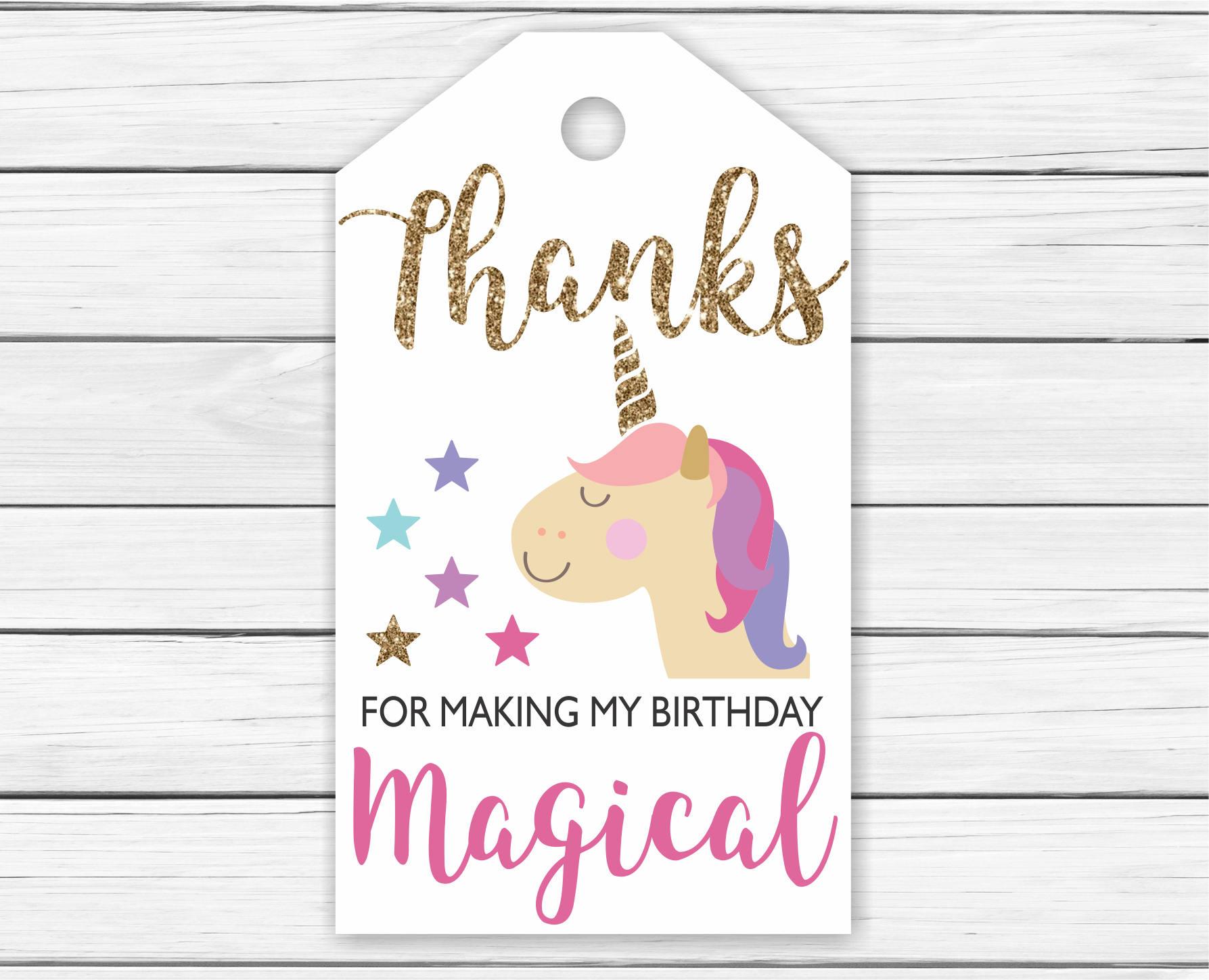unicorn thank you tags printable printable unicorn thank