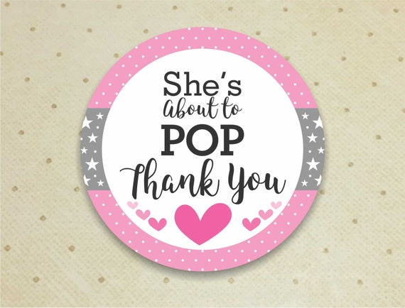 Printable Baby Shower Favor Thank You Tags For Girls Etsy