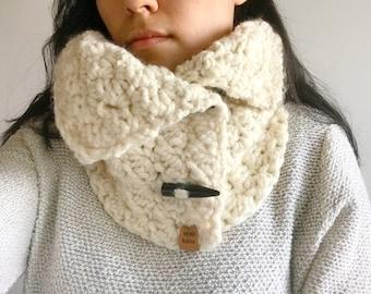 Adult Crochet Button up Cowl, Child Crochet Button up Cowl, Crochet Cowl, Adul Cowl, Button up Crochet Cowl