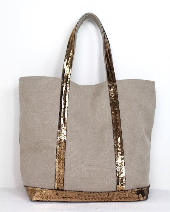 Beige cotton tote bag Vanessa Bruno style