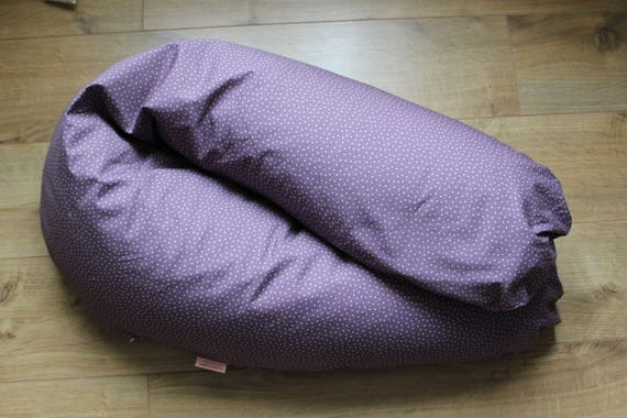 Cushion cover for nursing purple with white stars