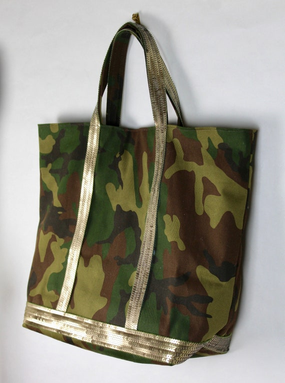 Camouflage tote bag Vanessa Bruno style