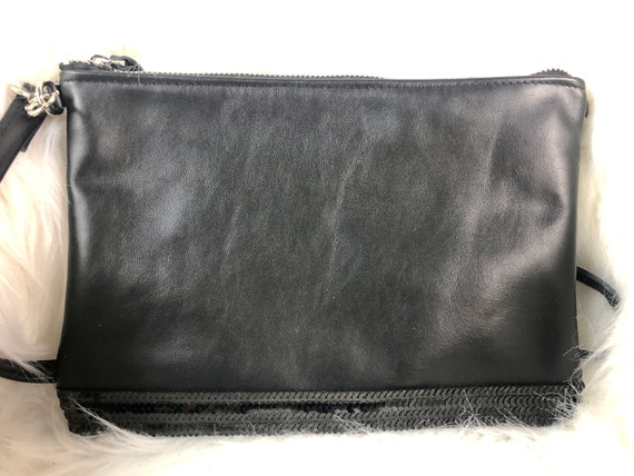 Black leather Vanessa Bruno style purse