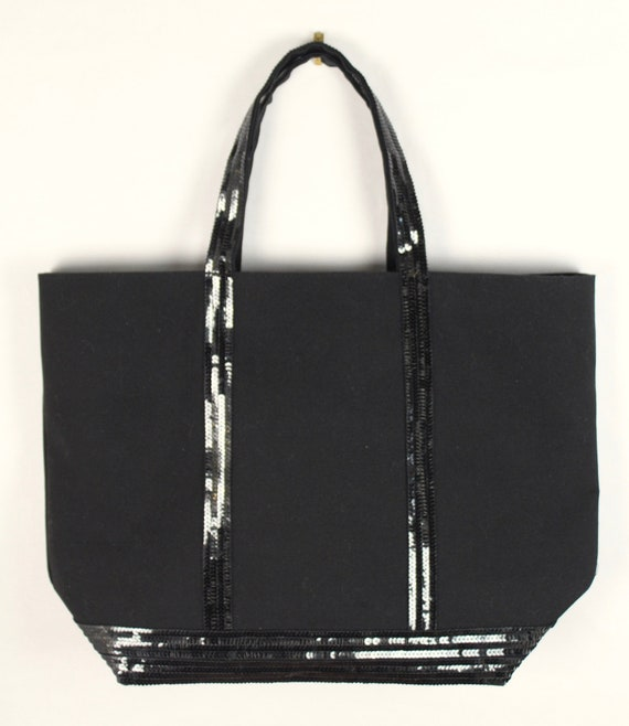 Lilou Tomas Bag bags Vanessa Bruno style in black cotton canvas and black sequins