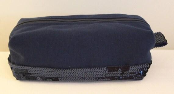Glitter Navy Blue Pencil Pouch style Vanessa Bruno