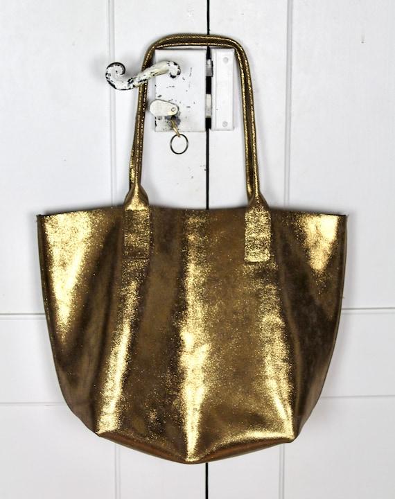 Rock chick silver leather fringe tote bag