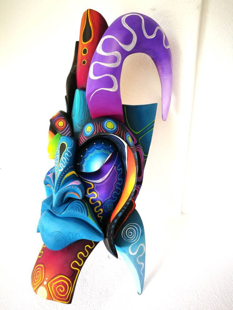 art from Costa Rica tribal mask Boruca mask beautiful warrior mask