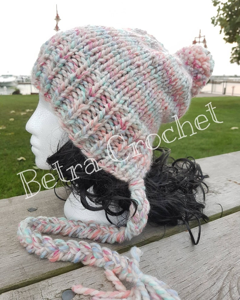 814847ff951dc Slouchy Ear Flap Hat Mom And Me Hat Mother and Daughter