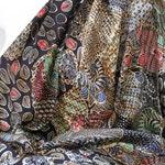 Indonesian Hand Drawn Batik, Large Silk Batik Scarf, Floral Silk Scarf, Silk Shawl, Silk Wrap, Batik Tulis - FREE WORLDWIDE DELIVERY