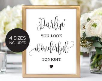 Printable Wedding Signage/ Love Signage/ Wonderful Tonight/ Wedding Sign/ Instant Download/ Wedding Printable/ PDF/ #066-18 Savannah Suite
