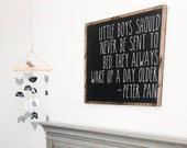 Peter Pan Nursery Sign | Never Grown Up | Wooden Sign | Nursery Decor | Playroom Decor | Boys Room Decor | Baby Sign | Baby Shower Gift