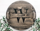 Personalized Lazy Susan | Wooden Tray | Turnable Tray | Wooden Lazy Susan | Customizable Gift | Wedding Gift | Custom Turnable | Centerpiece