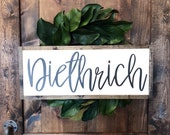 Last Name Sign | Personalized Sign | Home Decor | Custom Sign | Handmade Wood Sign | Farmhouse Decor | Wedding Gift | Farmhouse Name Sign