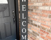 6ft Welcome Porch Sign | Welcome Sign | Porch Sign | Wood Welcome Sign | Vertical Welcome Sign | Welcome Sign With Bow | Porch Sign