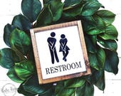 Restroom Sign // Farmhouse Decor // Bathroom Signs // Bathroom Decor // Wooden Signs // Farmhouse Signs // Funny Restroom Sign
