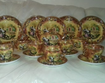 Reserved do not buy   Atchin tan waggon days gypsy dishes tea set