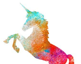 unicorn wall print - Unicorn print art - unicorn gift - unicorn lover - Art poster unicorn - unicorn wall art - nursery- unicorn silhouette