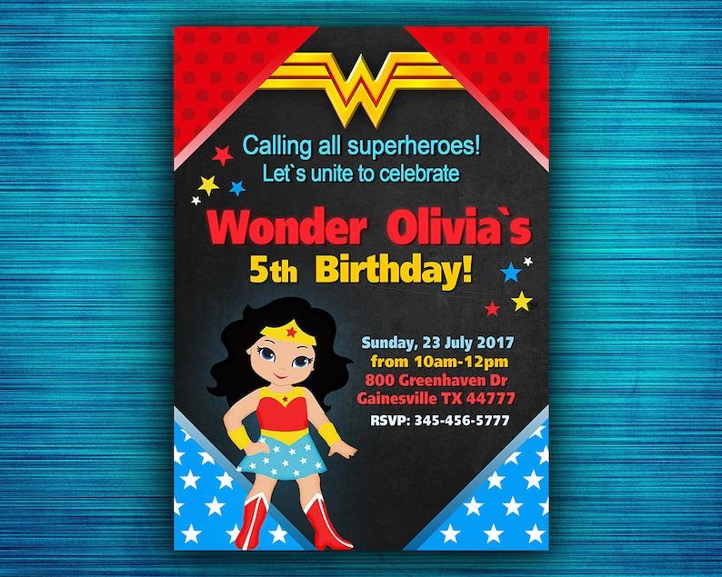Wonder Woman Invitation Party