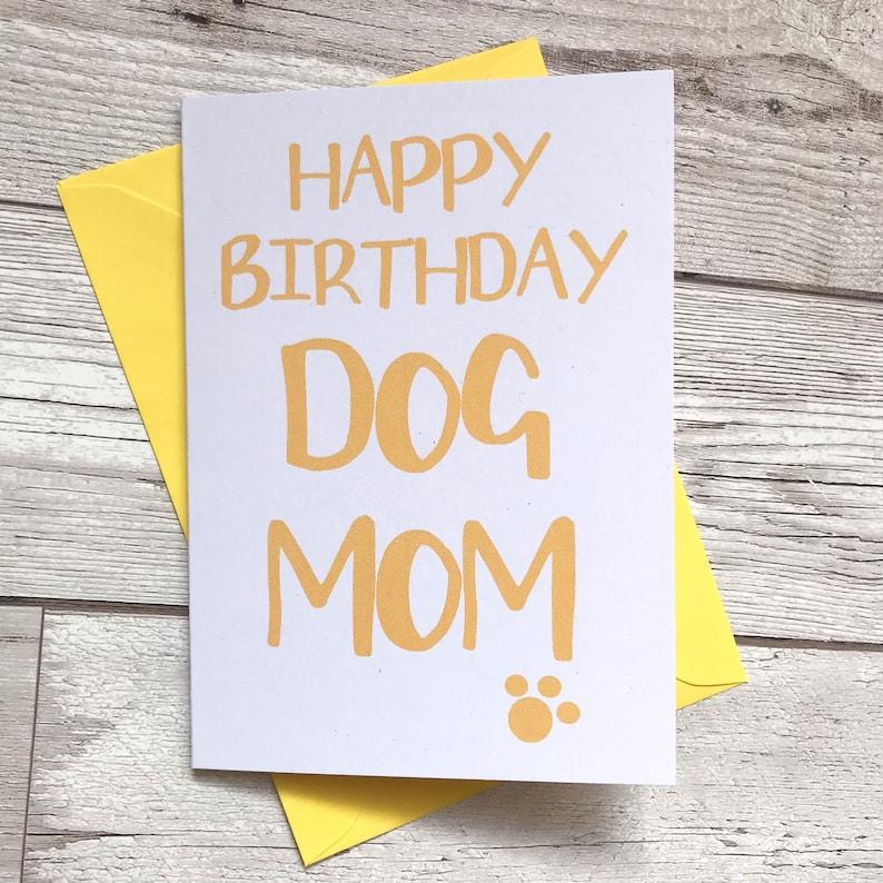 Dog Mom Birthday Card Happy