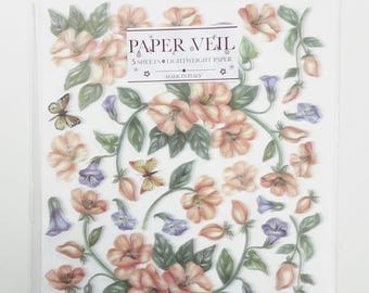 Sospeso Trasparente Paper Veil - Listed Price is for One Pack(5 Sheets)