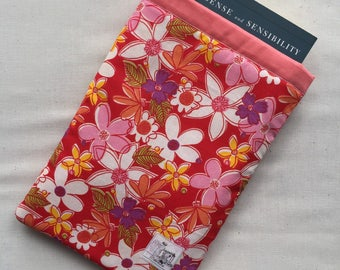 Bookvelope - Pink Floral Trade Paperback Book Cover