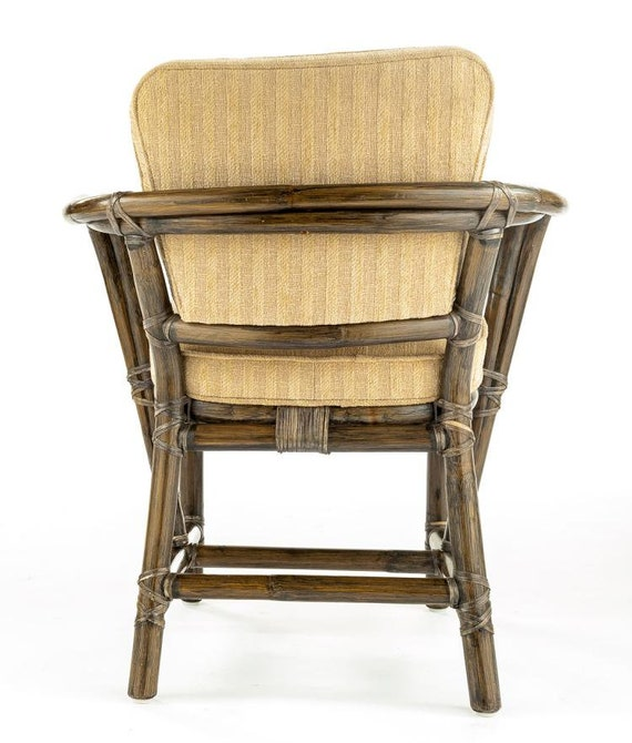 McGuire Of San Francisco Rattan Bamboo Vintage Dining Armchair Set Of 4