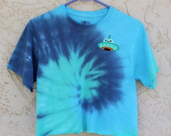 UFO Tie Dye Cropped T-Shirt
