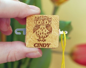 Needle threader Owl Cross stitch accessory Embroidery Sewing Threader Needle Needlepoint Crewel Sewing Quilting owl Gift for mother