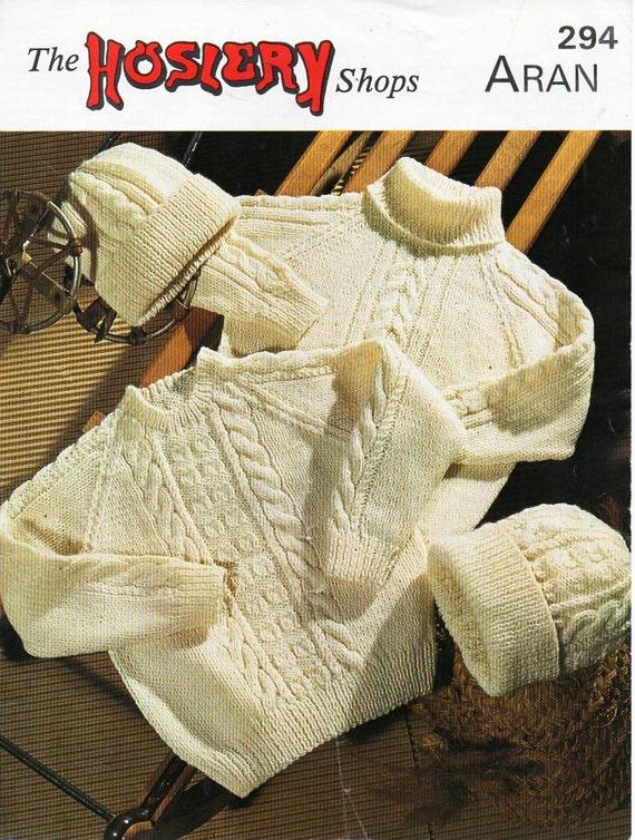 64771b25c childrens aran sweater knitting pattern pdf aran jumpers hats