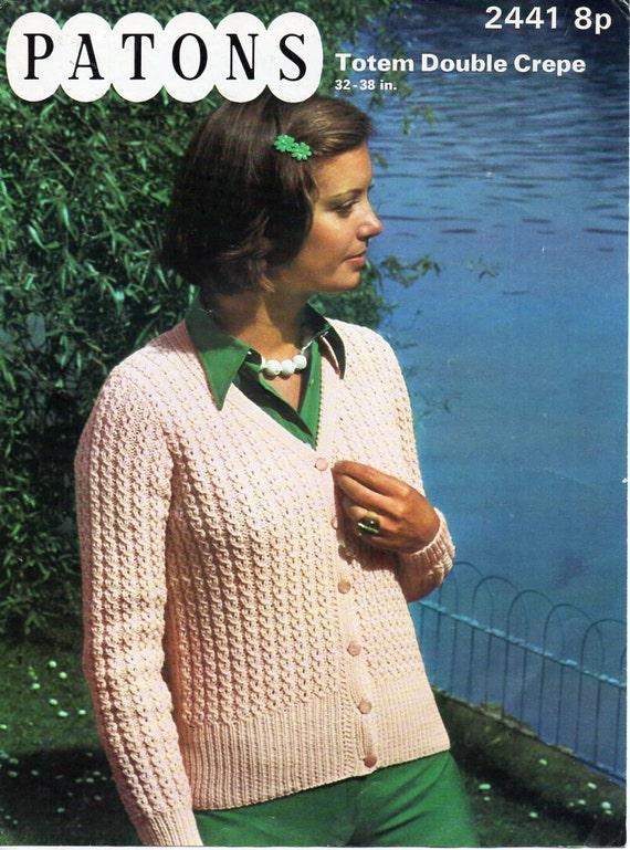 2c1f9b685b05 womens cardigan knitting pattern pdf DK ladies lacy v neck