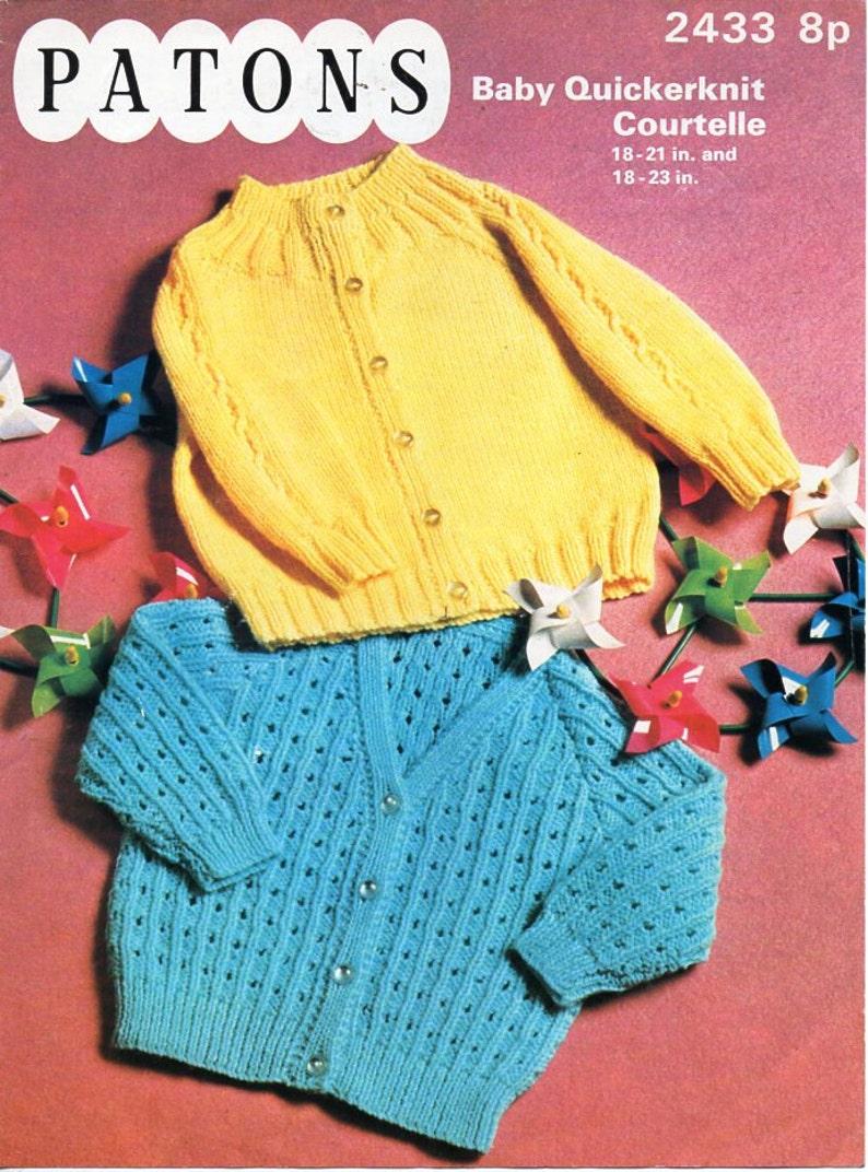 1fbf616a5 Vintage baby cardigan knitting pattern pdf baby jackets round