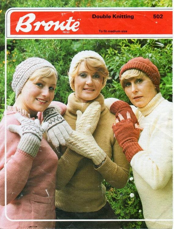 3250ad118f5 womens hat gloves mitts knitting pattern pdf ladies fair isle